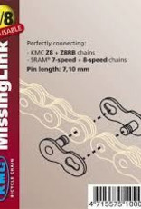 KMC 7/8X Chain Links 7.3MM Card Of 2