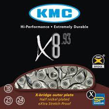KMC X8-93 Sil/Grey Chain 116L