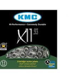 KMC X11-93 Sil/Grey Chain 114L