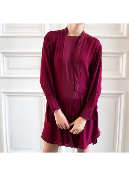 Magali Pascal Phoenix Shirt dress - Raspberry