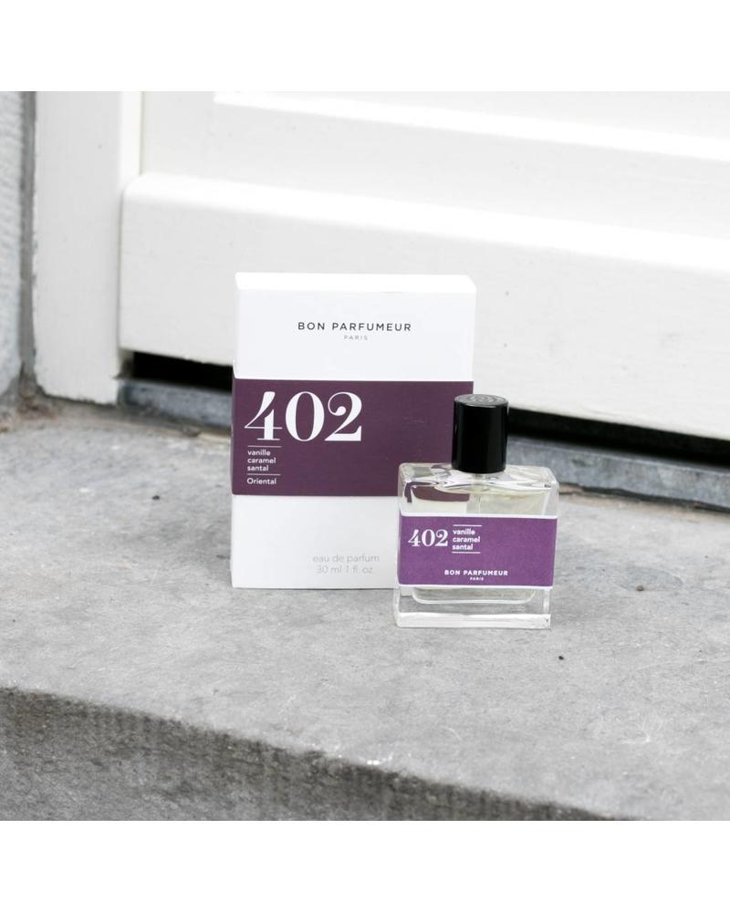 Bon Parfumeur 402 vanilla, toffee, sandalwood