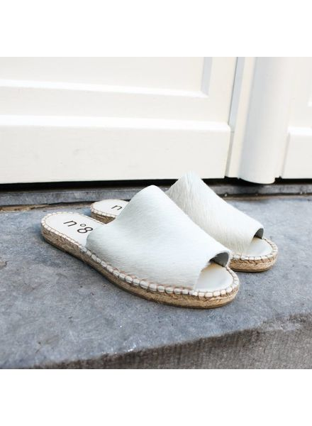 N°8 Antwerp Pony sandal - White