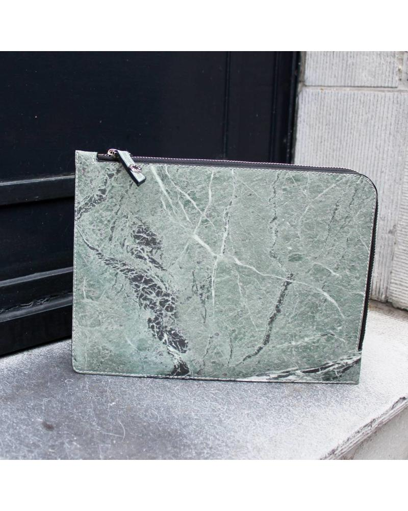 Marble Zip Clutch - Serpentine