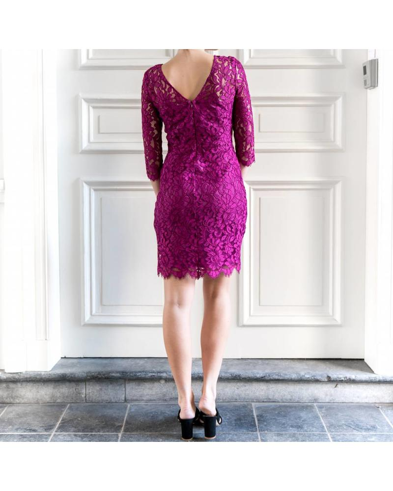 SET Lace dress - Fuchsia