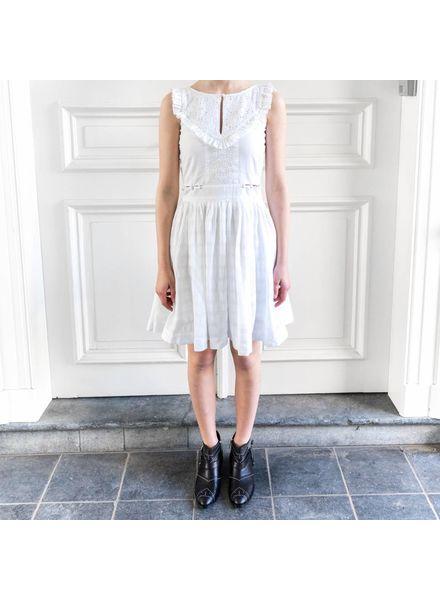 Loa by Lidia Aguilera Embroidery dress buttons waist