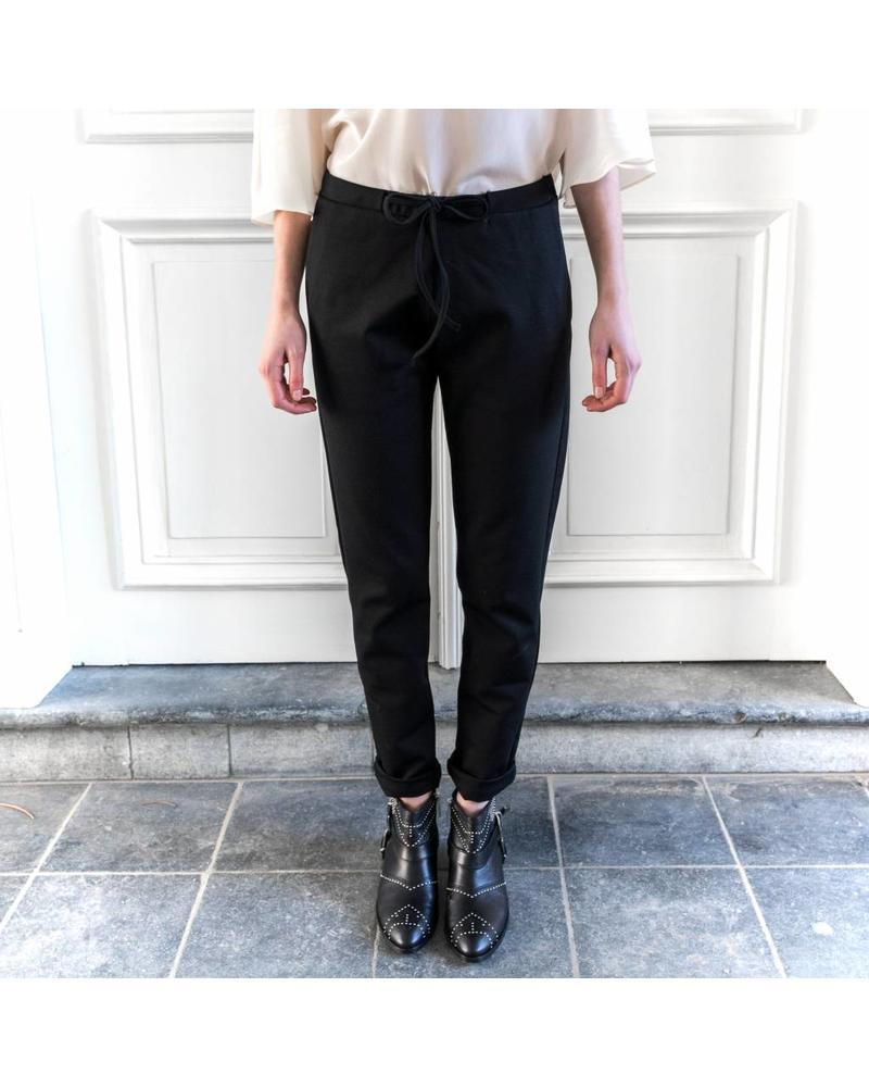 StudioRuig Thick jersey Trousers Bries - Black