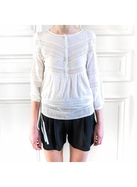 Loa by Lidia Aguilera Shirt side laces - White