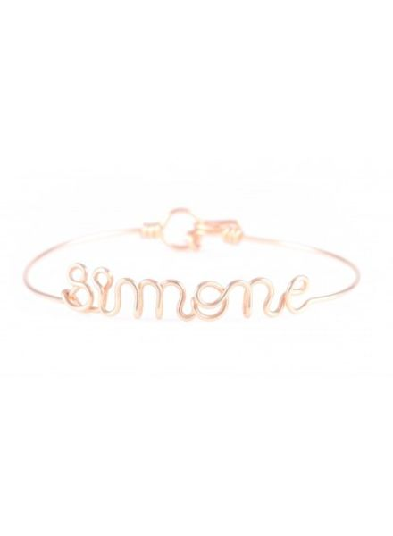 Atelier Paulin Personalised bracelet 1-5 letters - 18k yellow/rose gold