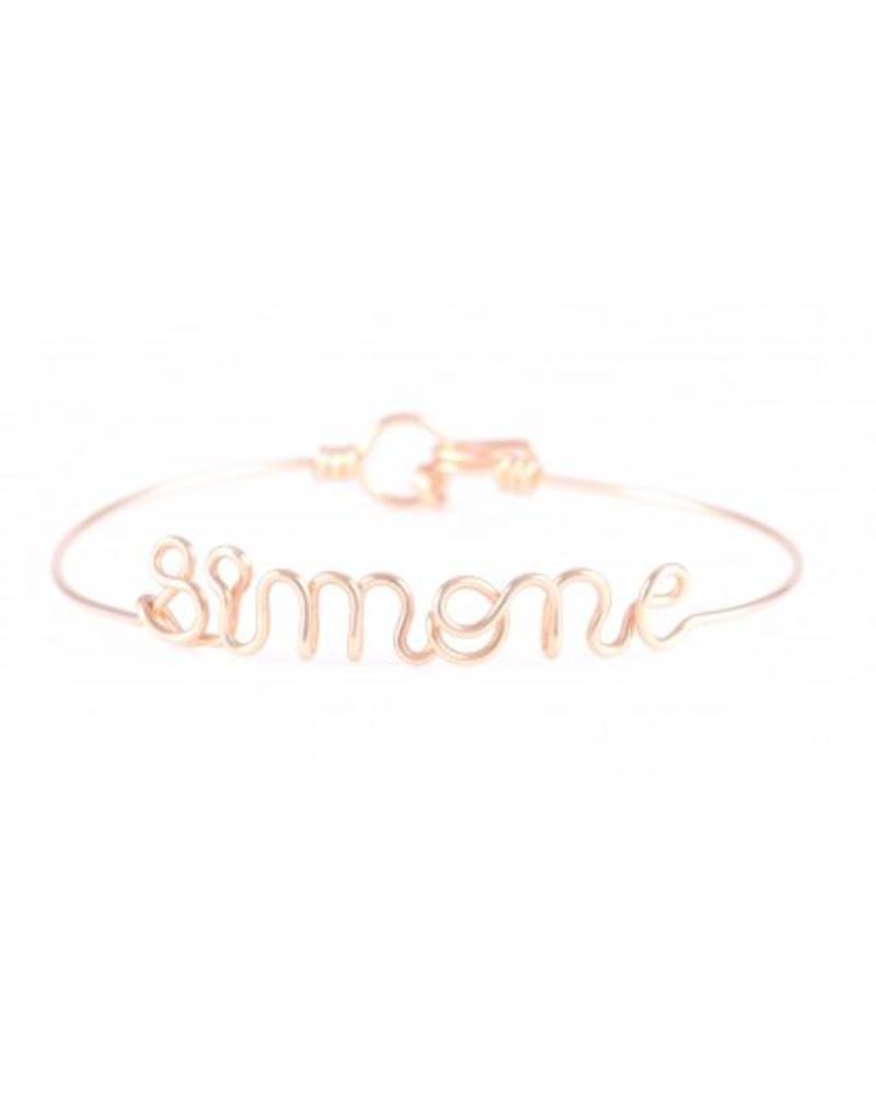 Atelier Paulin Personalised bracelet - 18k yellow/rose gold