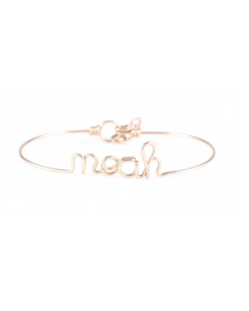Atelier Paulin Personalised bracelet 6-10 letters - Gold-filled 14k