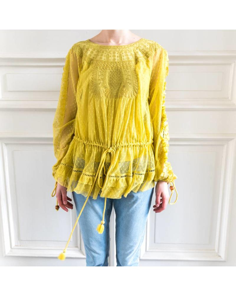 Loa by Lidia Aguilera Oversized Blouse cotton - Ochre