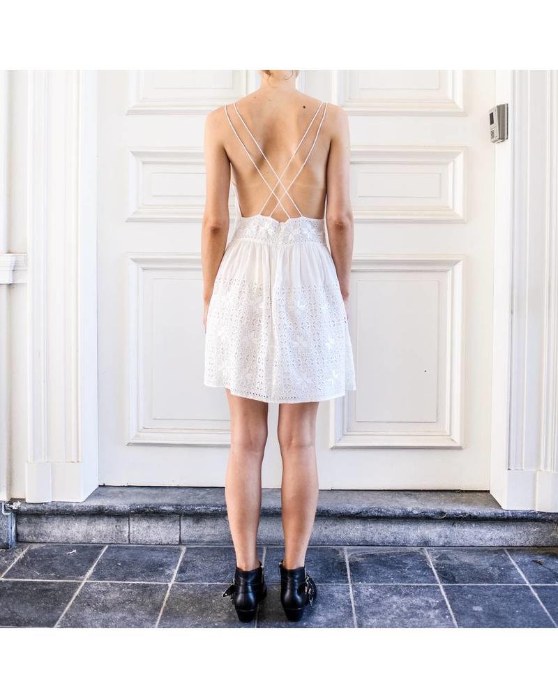 Magali Pascal Mallorca dress - Dusty White