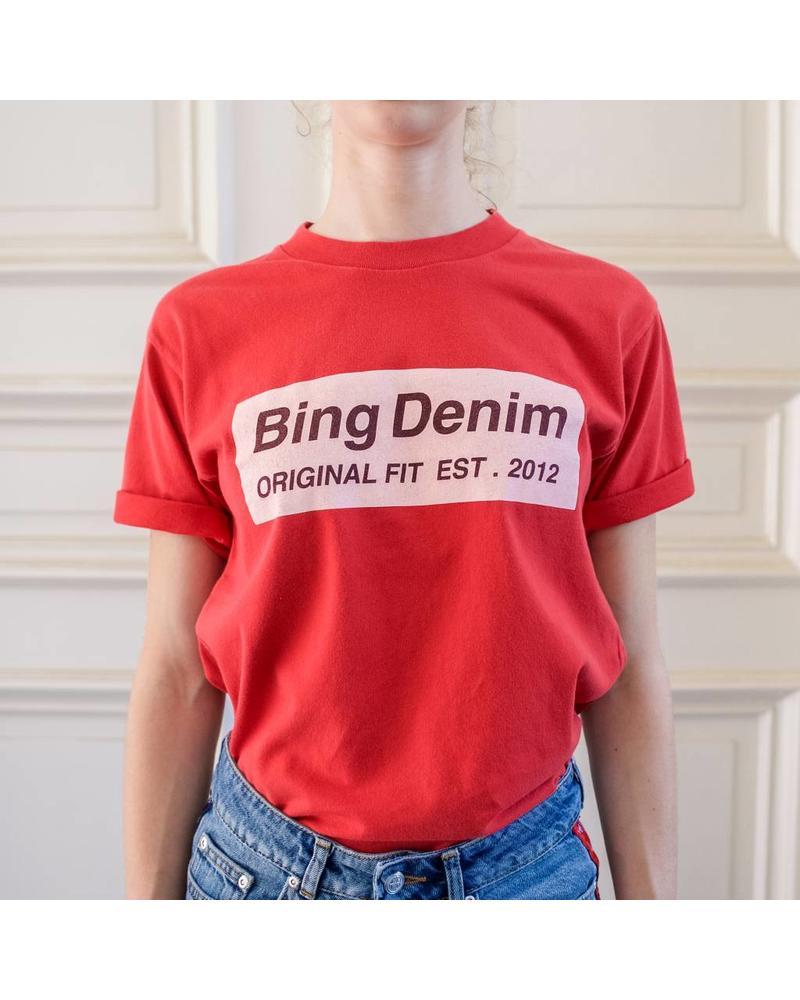 Anine Bing Vintage BING tee - Red