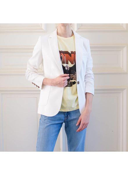 Anine Bing Schoolboy blazer - White
