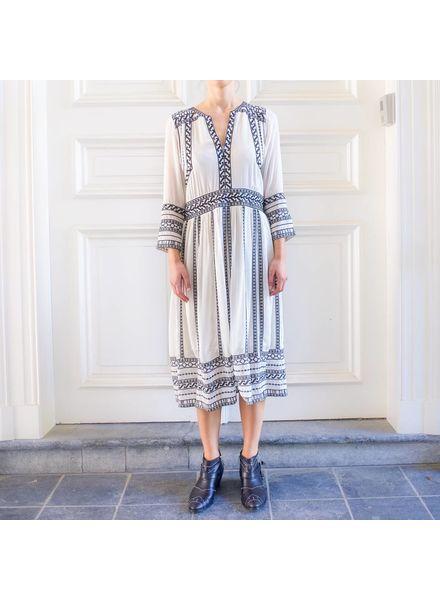 Magali Pascal Zahara Long dress - Dusty White/Black