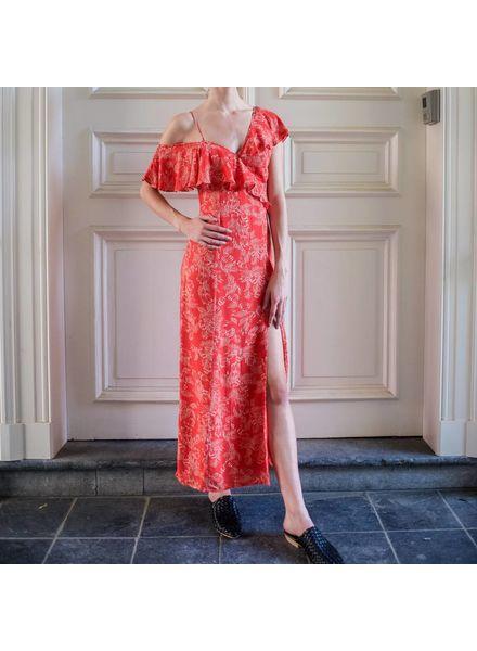 Amuse Society Midnight Flower dress - Red