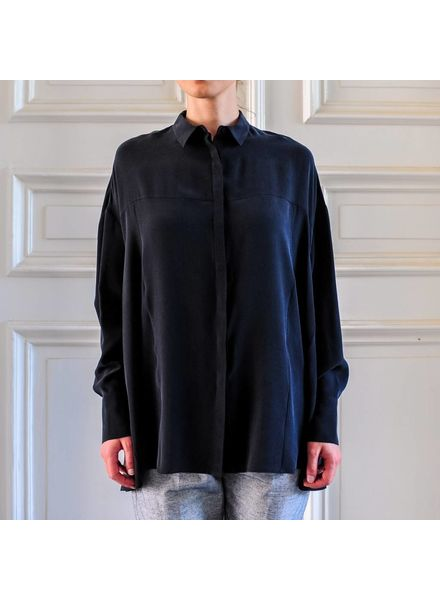 Margaux Lonnberg Rose chemise - Black