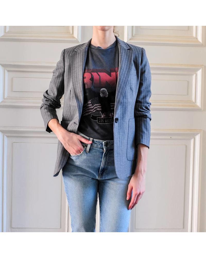 Anine Bing Schoolboy blazer - grey