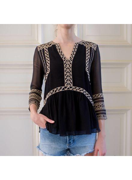 Magali Pascal Zahara blouse - Black/Cream