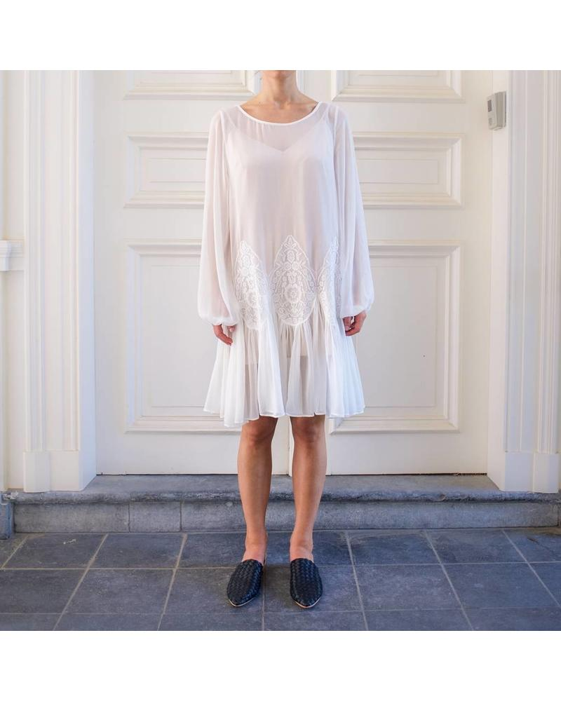 Magali Pascal Iris long sleeve dress - Off White