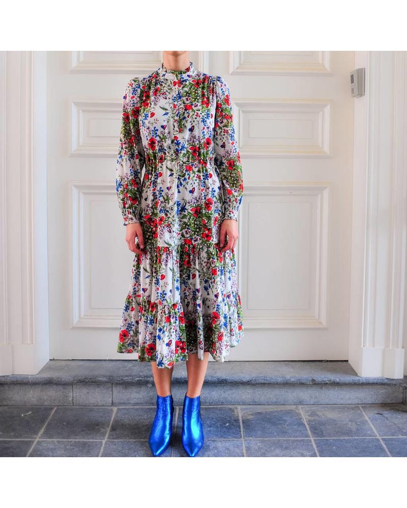 Julie Fagerholt Hena dress - Red Flower