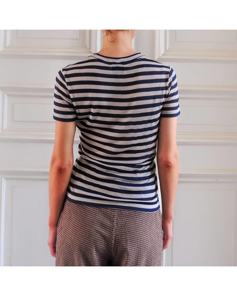 Nanushka Guy Tee - Navy Stripe