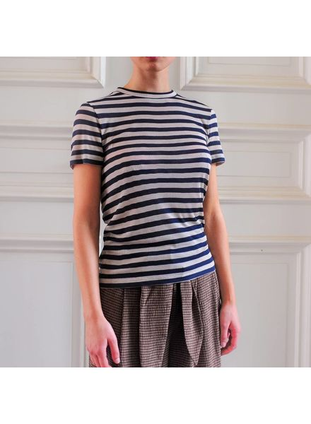 Nanushka Guy Tee - Navy Stripe