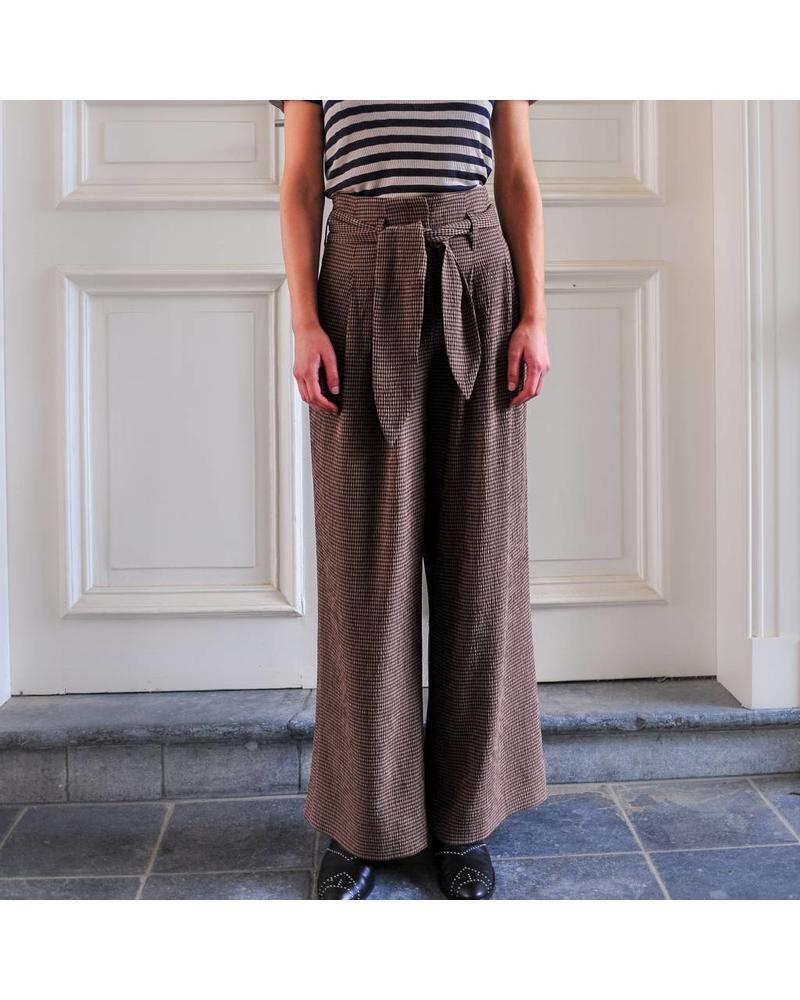 Nanushka Nevada Pants - Brown Check