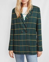Anine Bing Madeleine blazer - Green plaid