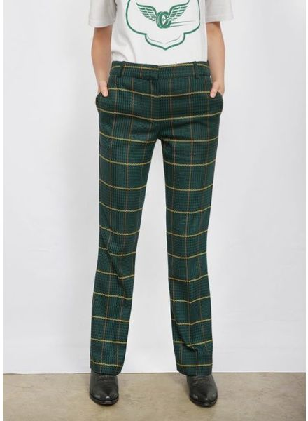 Anine Bing Cindy pants - Green Plaid