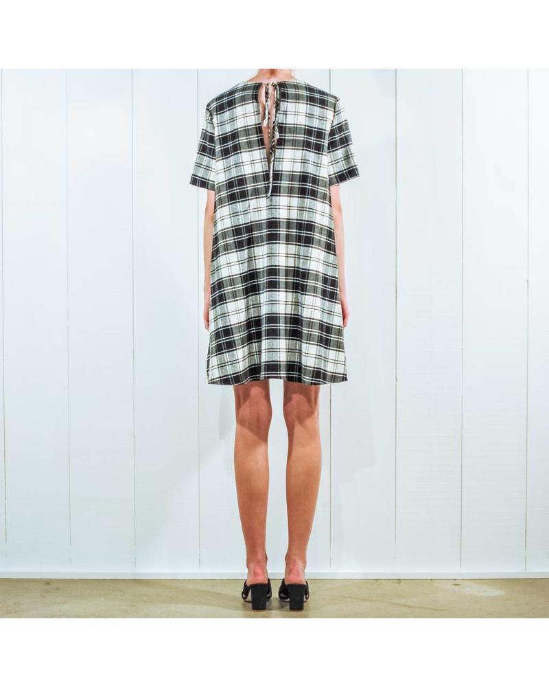 Margaux Lonnberg Valentine Robe - Black Check