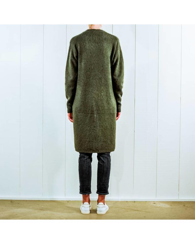 CT Plage Raccoon knitted long cardigan - Khaki