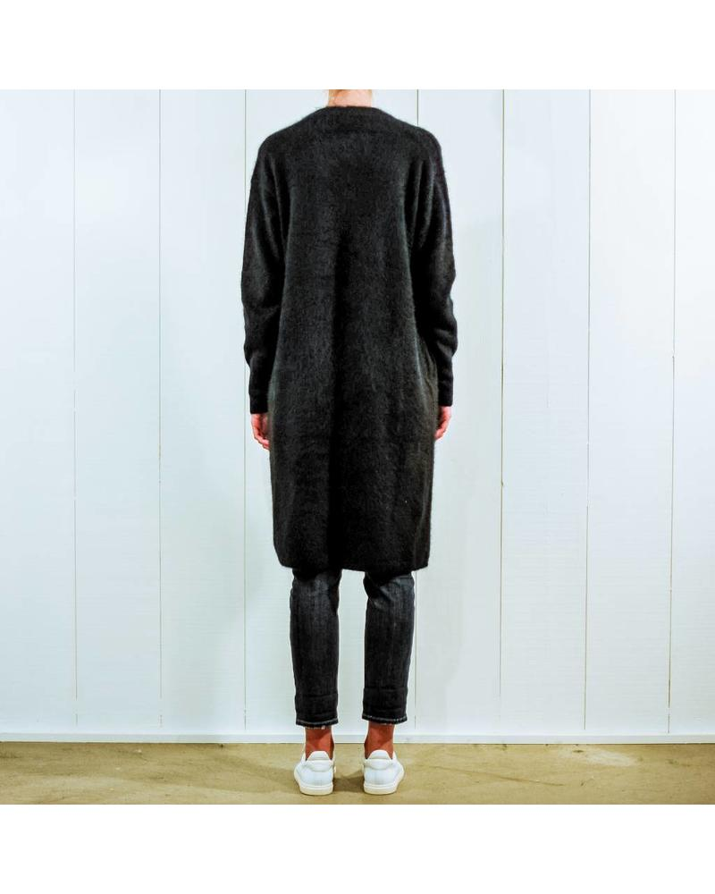 CT Plage Raccoon knitted long cardigan - Black