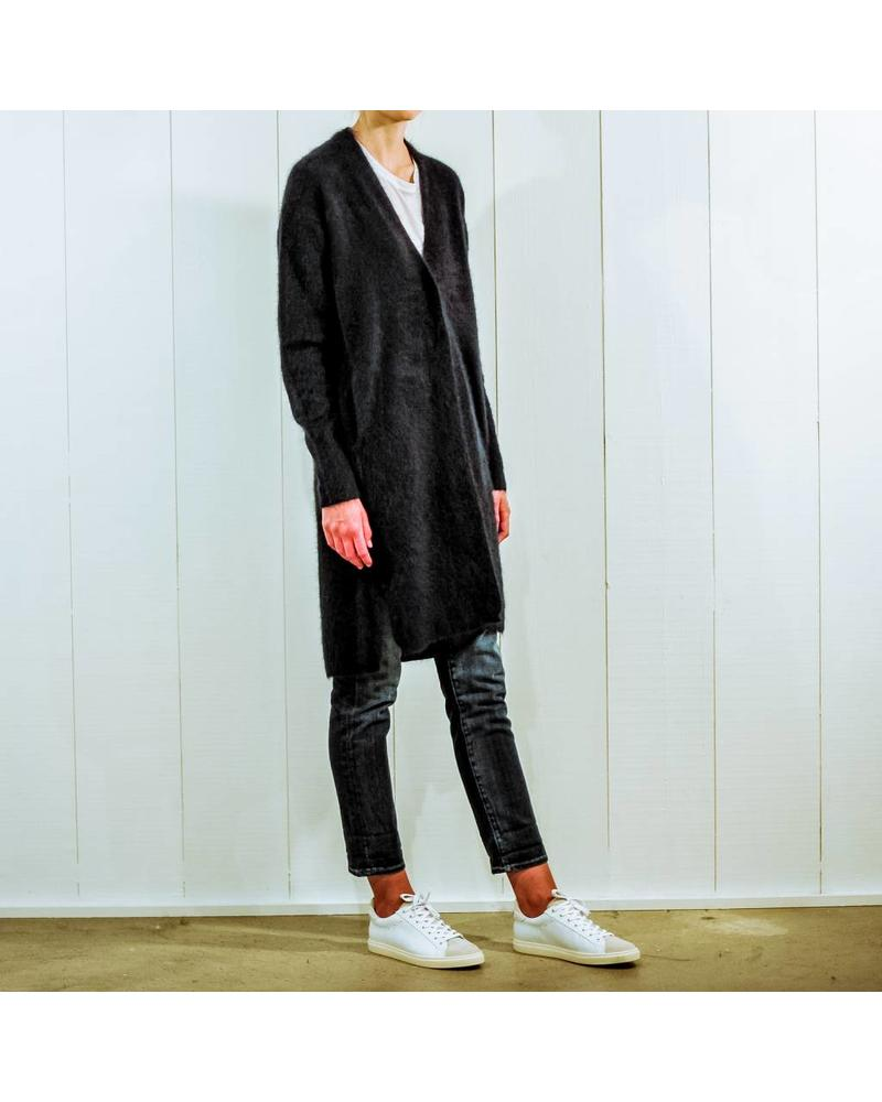 CT Plage Raccoon knitted long cardigan - Navy
