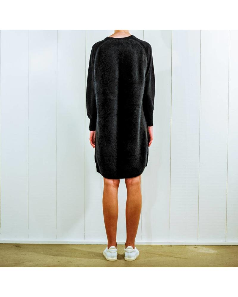 CT Plage Raccoon knitted dress - Black