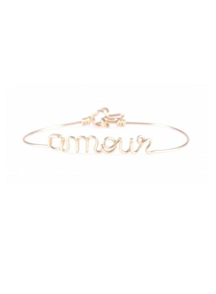 Atelier Paulin Bracelet AMOUR - Gold plated