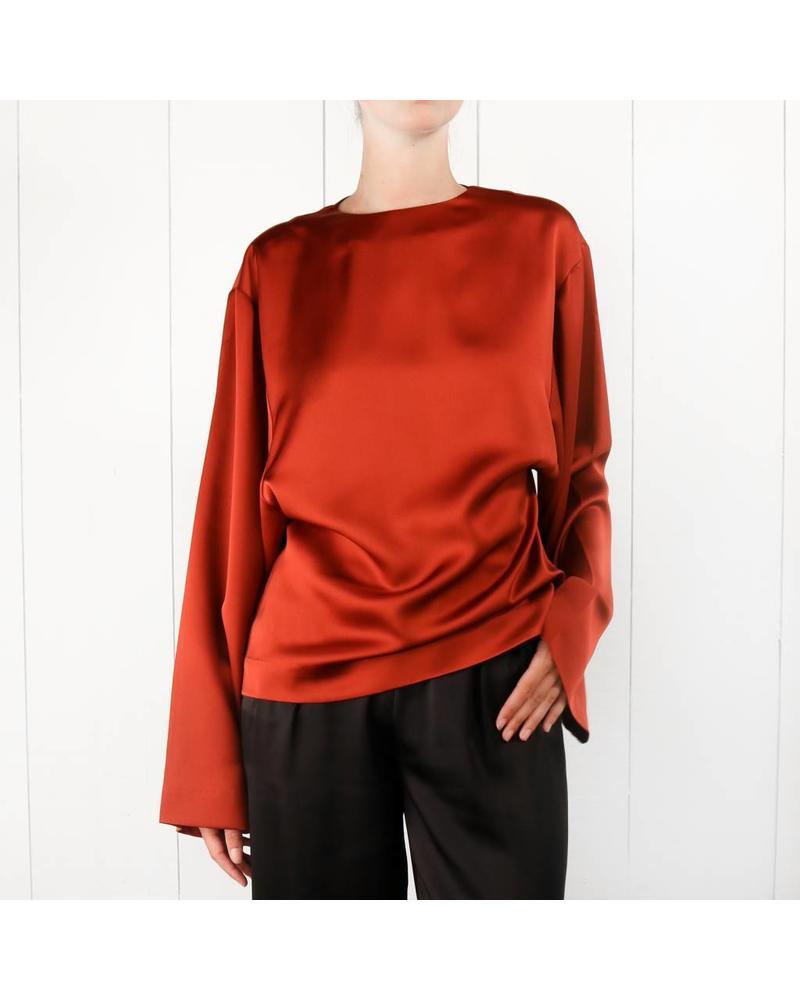 Totême Avila blouse - Rust red