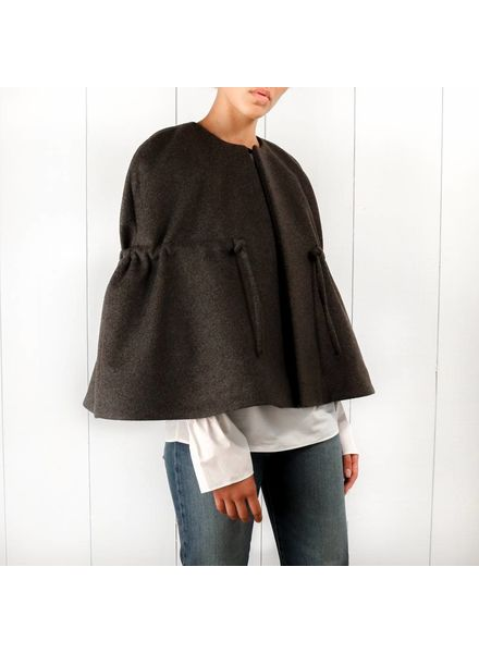 Totême Laval wool cape - Dark grey