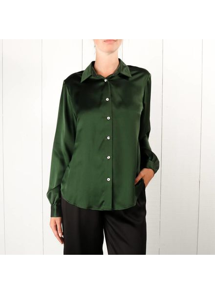 Matin Silk collared shirt - Jungle