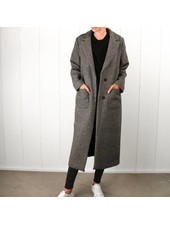 Liv The Label Folon Maxi Coat - Pied de Poule