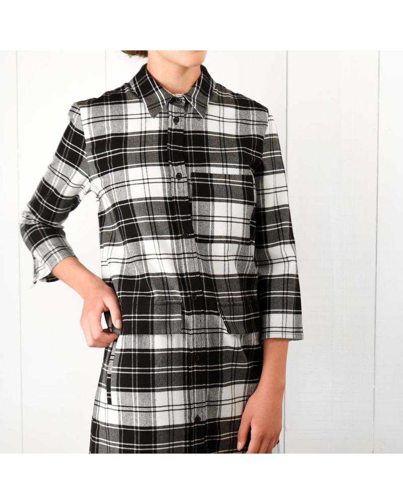 Margaux Lonnberg Kheira robe - Black Check