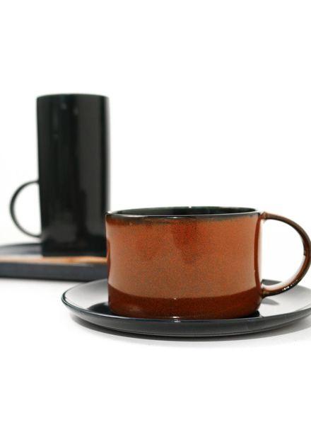 Koffietas D8 - Dark Blue/Rust