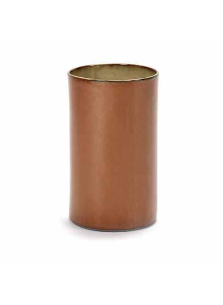 Vaas cilinder hoog Anita - Rust