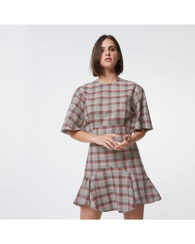 Maison Kitsuné Juliet frilled dress - Multicolor