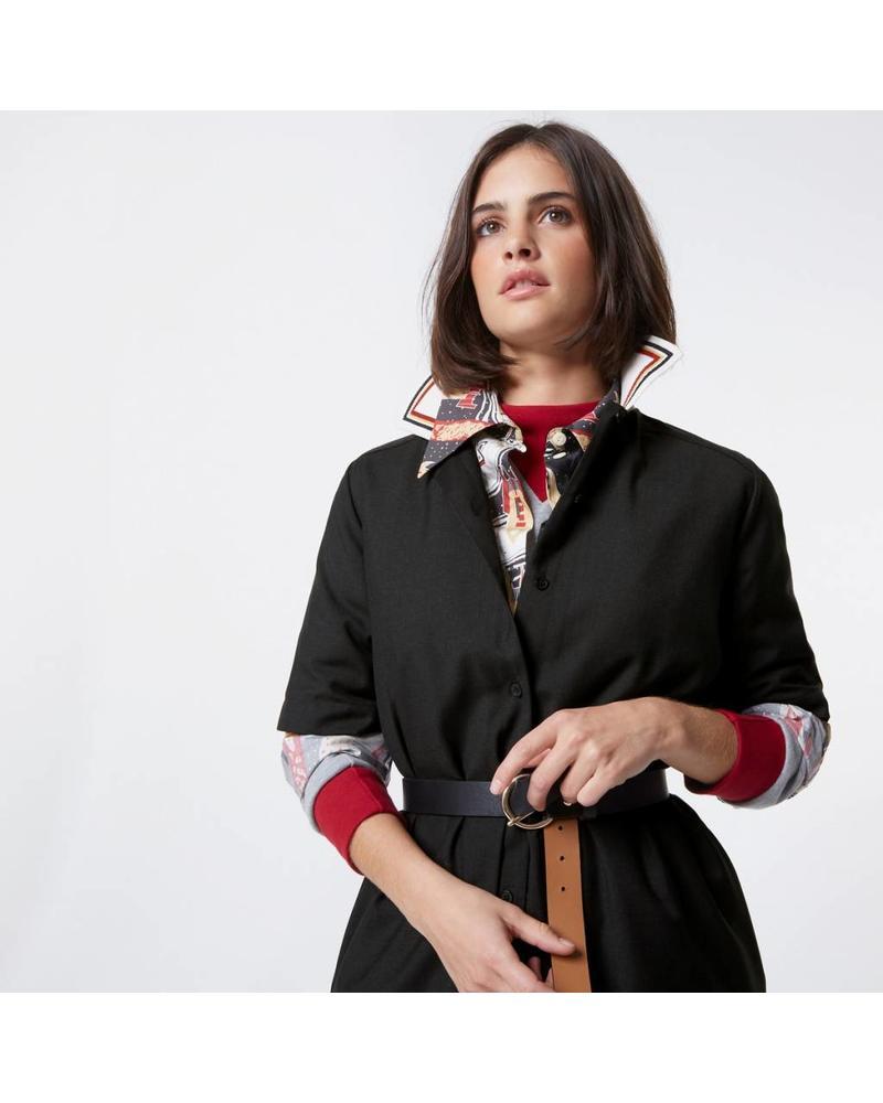 Maison Kitsuné Gabriele ribbed collar dress - Anthracite