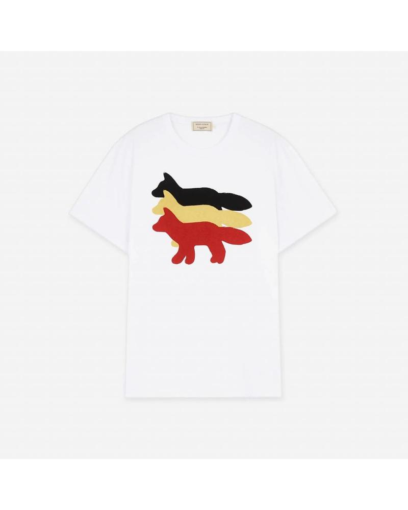 Maison Kitsuné Tee - shirt 3 foxes - White