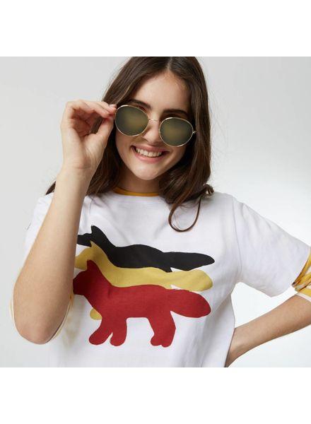 Maison Kitsuné Tee - shirt 3 foxes - White
