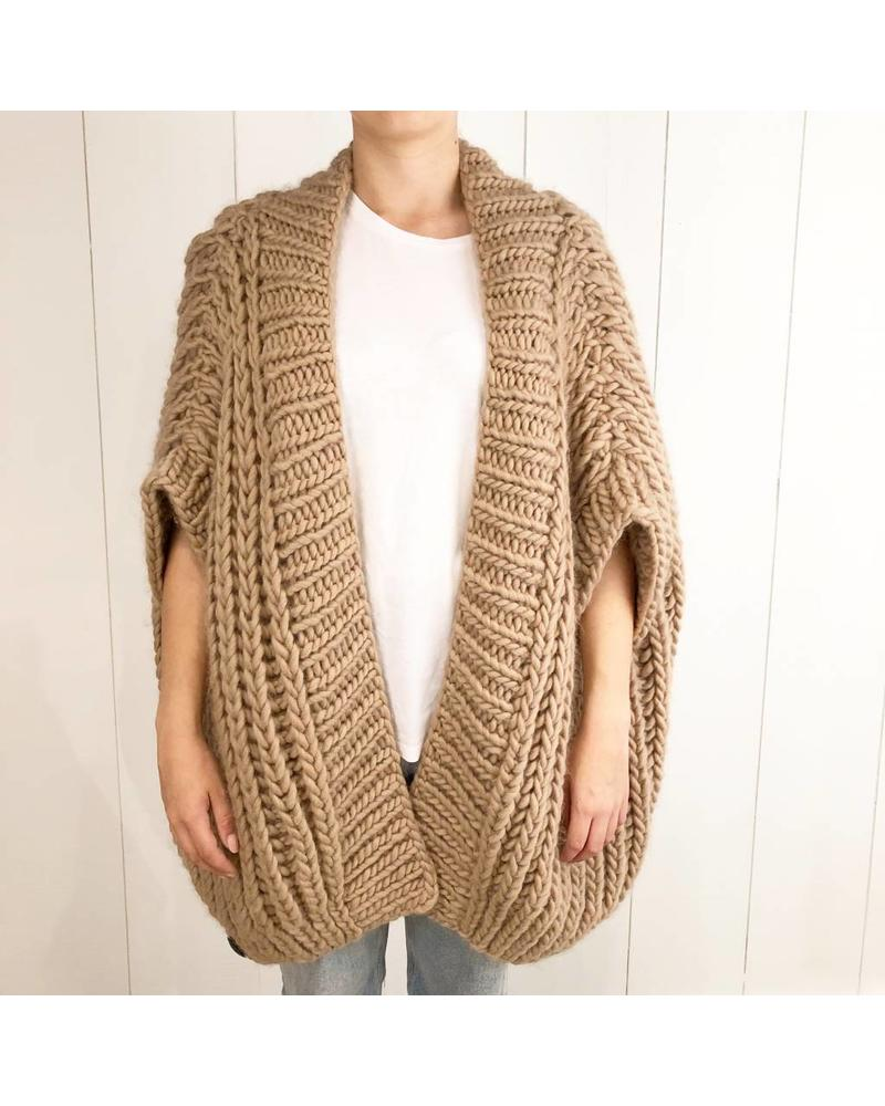 I Love Mr Mittens Fishermans vest wool - Taupe