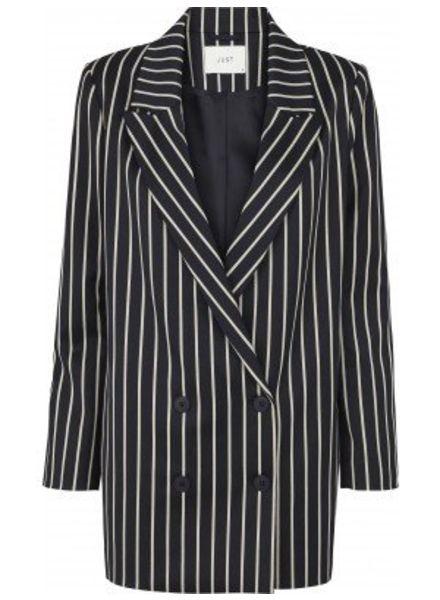 Just Female Laurent Blazer - Blue White Stripe