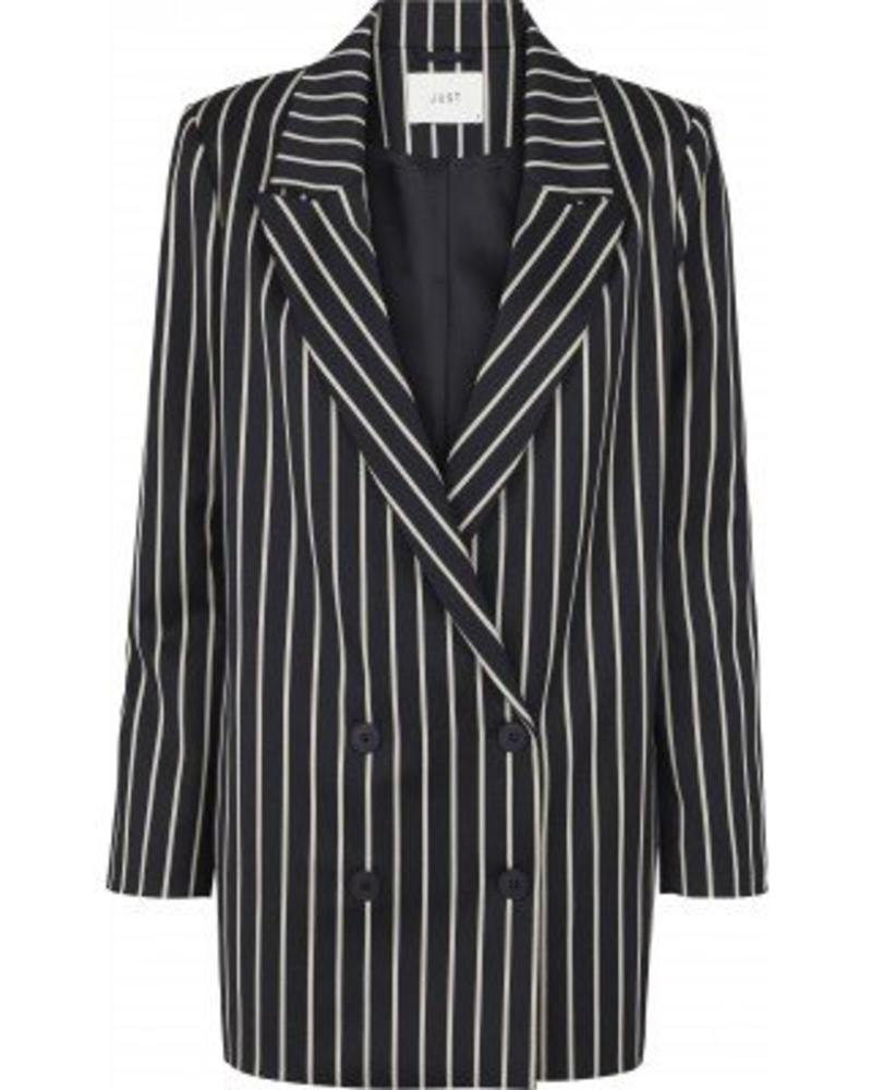 Just Female Laurent Blazer - Blue White Stripe